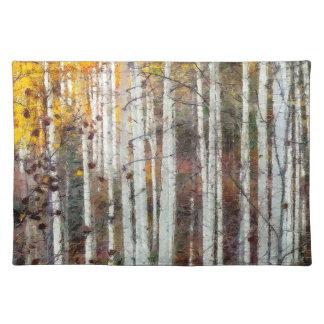 Misty Birch Forest Placemat