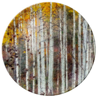 Misty Birch Forest Plate
