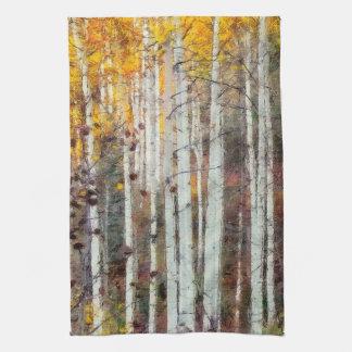 Misty Birch Forest Tea Towel