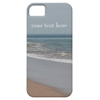 Misty blue day at the beach iPhone 5 cases