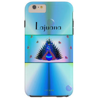 Misty Blue Peacock Phone Case