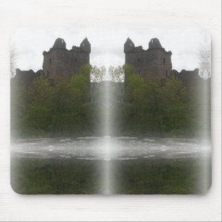 Misty Castle Mouse Pad