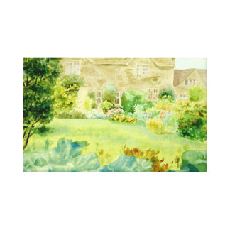 Misty Cotswold garden Canvas Print