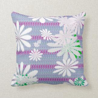 Misty Flower Pattern Throw Pillow