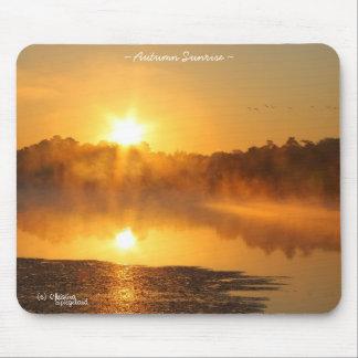 Misty Foggy Lake Sunrise Mousepad