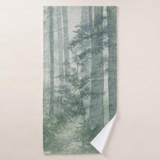 Misty Forest Bath Towel