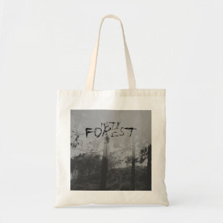 Misty Forest Creepy Black and White Bag