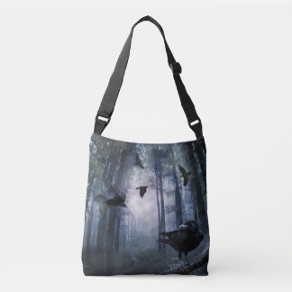 Misty Forest Crows Cross Body Bag