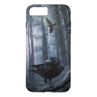 Misty Forest Crows Tough iPhone 7 Plus Case