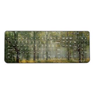 Misty Forest Scene Wireless Keyboard