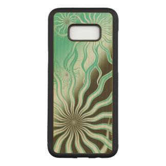 Misty Green Brown Rays Phone Case