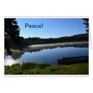 Misty Lake note card