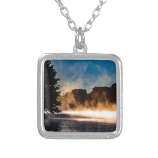 Misty Lake Silver Plated Necklace
