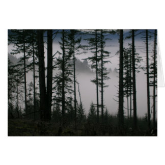Misty Layers Greeting Card