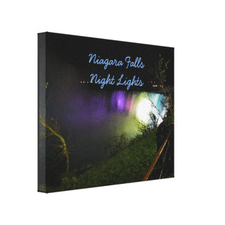 Misty Lights Niagara Falls Canvas Print