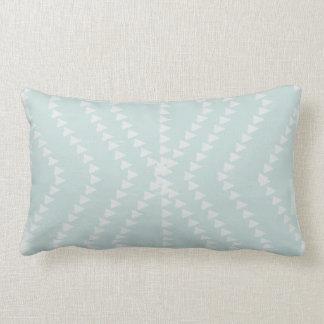 Misty Mint White Geometric Arrows Pillow