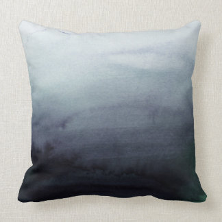 Misty Morning Abstract Pillow