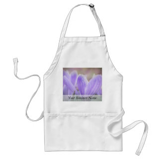 Misty Morning Crocuses Aprons