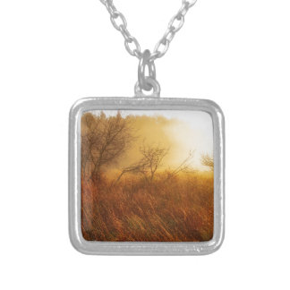 Misty Morning in the Country Silver Plated Necklace