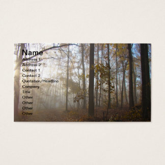 Misty Morning in the Forest Business Card