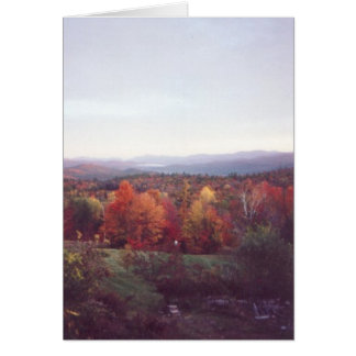 """Misty Morning, October 15, 2008"" Card"