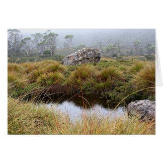 Misty morning reflections, Tasmania, Australia Card