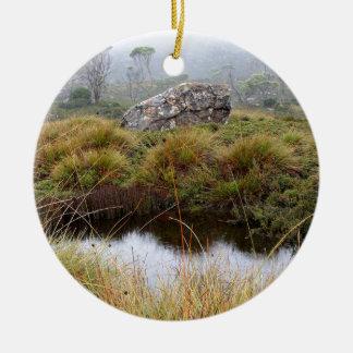 Misty morning reflections, Tasmania, Australia Ceramic Ornament