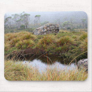 Misty morning reflections, Tasmania, Australia Mouse Pad