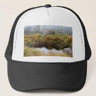 Misty morning reflections, Tasmania, Australia Trucker Hat