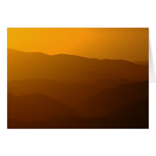 Misty Mountainous Sunset - TBD series Card