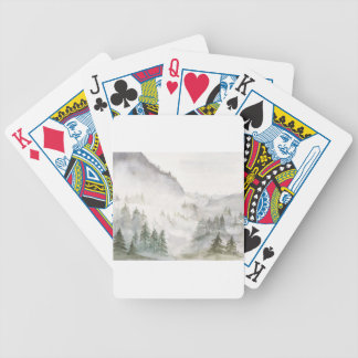 Misty Mountains Bicycle Playing Cards