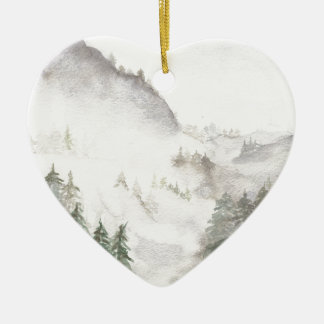 Misty Mountains Ceramic Ornament