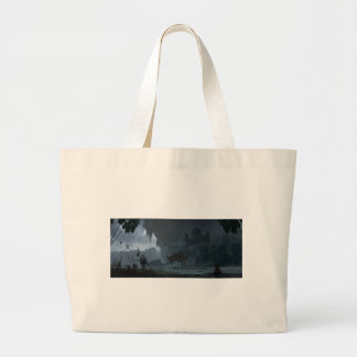 Misty Mountains Large Tote Bag