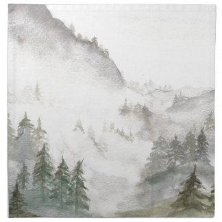 Misty Mountains Napkin