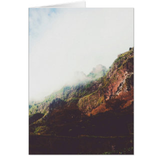 Misty Mountains, Relaxing Nature Landscape Scene Card