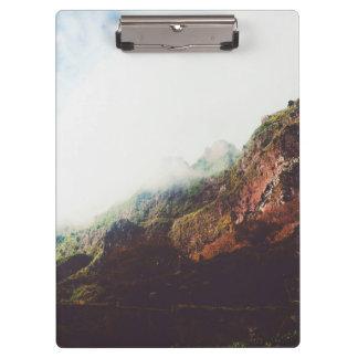Misty Mountains, Relaxing Nature Landscape Scene Clipboard