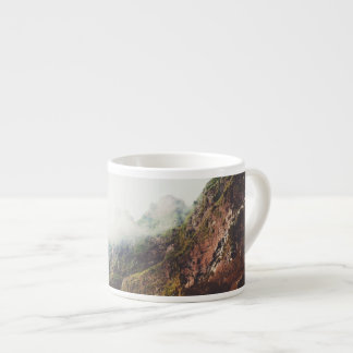 Misty Mountains, Relaxing Nature Landscape Scene Espresso Cup