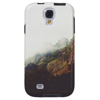 Misty Mountains, Relaxing Nature Landscape Scene Galaxy S4 Case