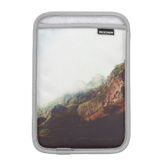 Misty Mountains, Relaxing Nature Landscape Scene iPad Mini Sleeve