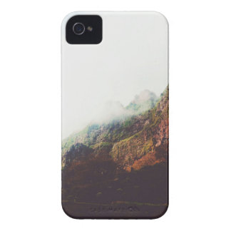 Misty Mountains, Relaxing Nature Landscape Scene iPhone 4 Case-Mate Cases