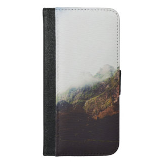 Misty Mountains, Relaxing Nature Landscape Scene iPhone 6/6s Plus Wallet Case