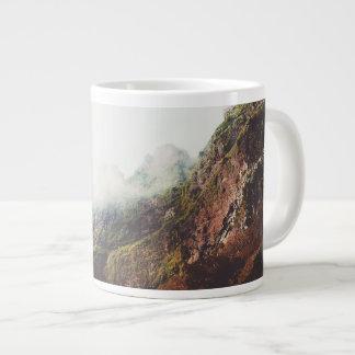 Misty Mountains, Relaxing Nature Landscape Scene Large Coffee Mug