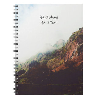 Misty Mountains, Relaxing Nature Landscape Scene Notebook