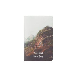 Misty Mountains, Relaxing Nature Landscape Scene Pocket Moleskine Notebook