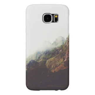 Misty Mountains, Relaxing Nature Landscape Scene Samsung Galaxy S6 Cases