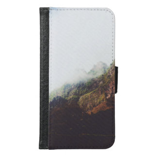 Misty Mountains, Relaxing Nature Landscape Scene Samsung Galaxy S6 Wallet Case