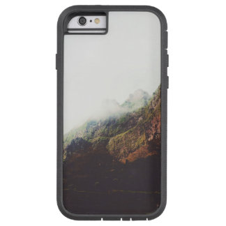 Misty Mountains, Relaxing Nature Landscape Scene Tough Xtreme iPhone 6 Case