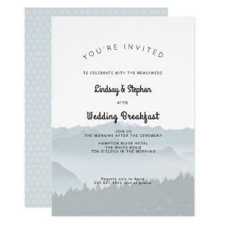 Misty Mountains Wedding Breakfast Invitation