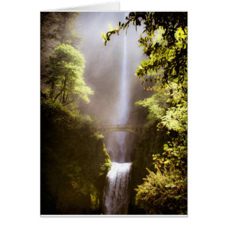 Misty Multnomah Falls Card