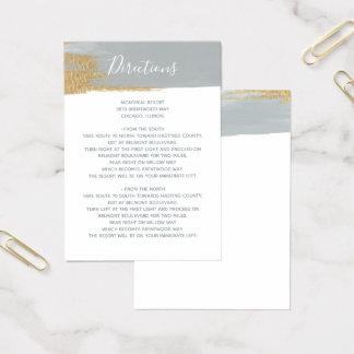 Misty Ocean Gilded Brush Strokes directions card
